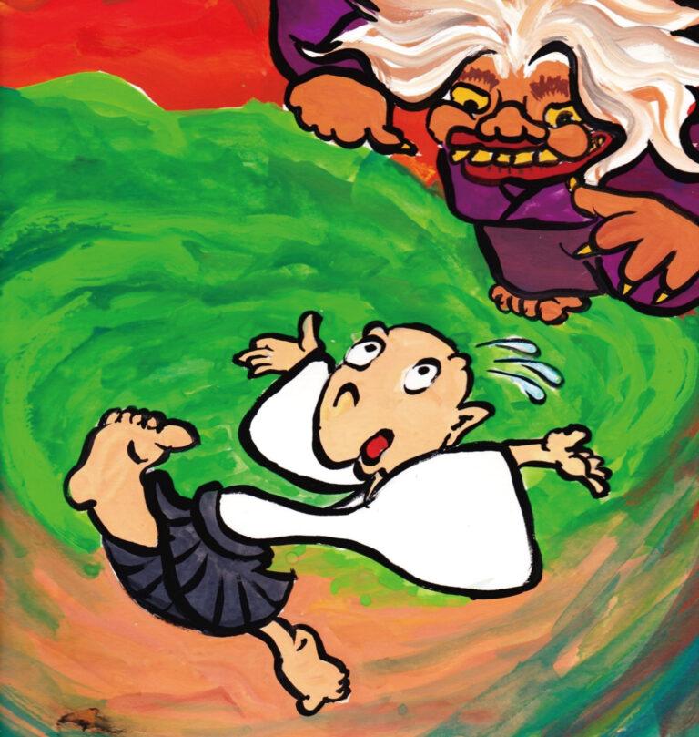 """子ども英語劇鑑賞会 劇団CALLによる英語+日本語のペープサート劇 日本昔話「三枚のおふだ」/ English Theater for Kids """"Three Lucky Charms"""""""