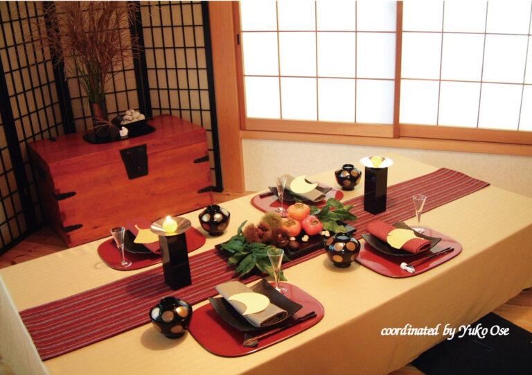 季節の和食器 テーブルコーディネート お月見編